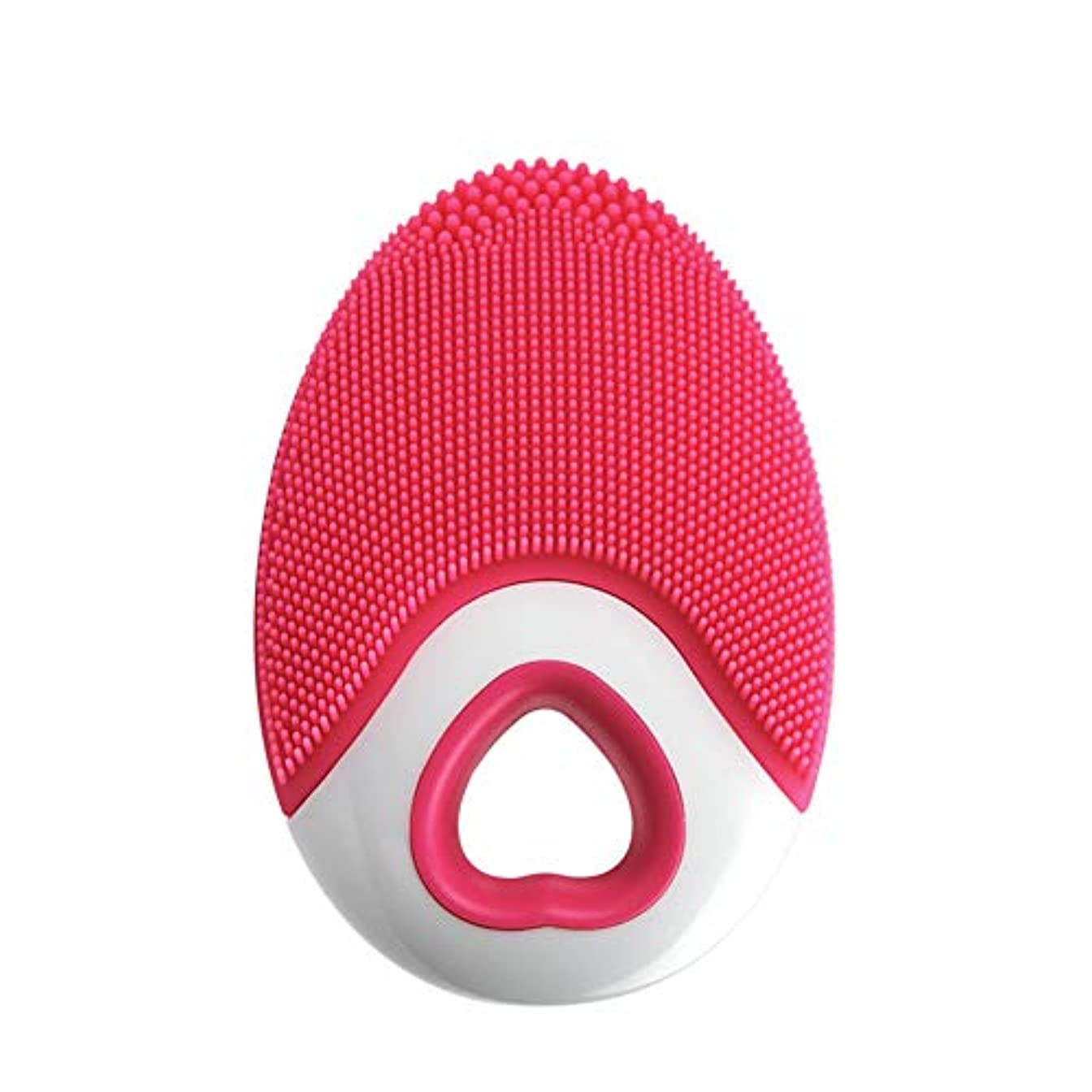 どれでも同級生苦難Aylincool   1ピースシリコンフェイスクレンザーブラシ超音波ディープクリーニング防水ワイヤレス充電