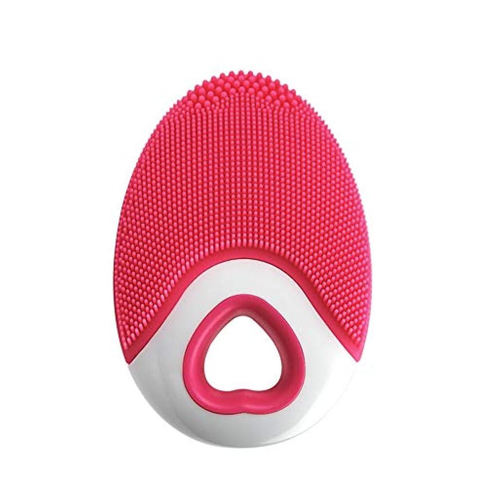 ウミウシ悪意のあるパトワAylincool   1ピースシリコンフェイスクレンザーブラシ超音波ディープクリーニング防水ワイヤレス充電