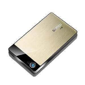 シリコンパワー USB2.0/1.1対応 耐衝撃 Armor A50 ポータブルHDD 640GB Gold SP640GBPHDA50S2G
