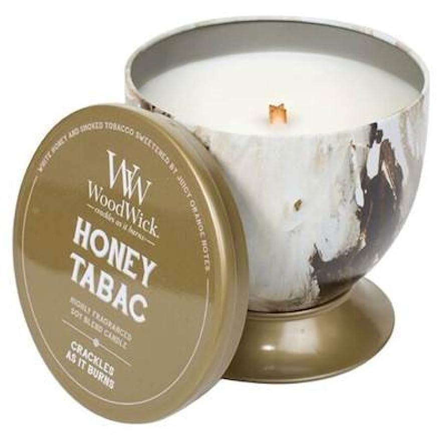納屋影響する罰Honey Tabac – アーティザンコレクションTin WoodWick香りつきJar Candle