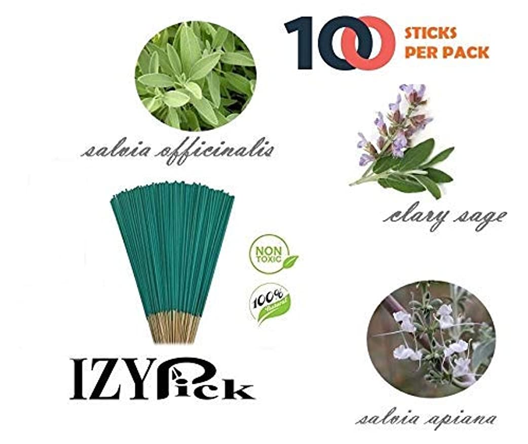マークダウン競争力のある自分の力ですべてをするExcIdea Sage Incense Handrolled Agarbatti Stick -100 Sticks