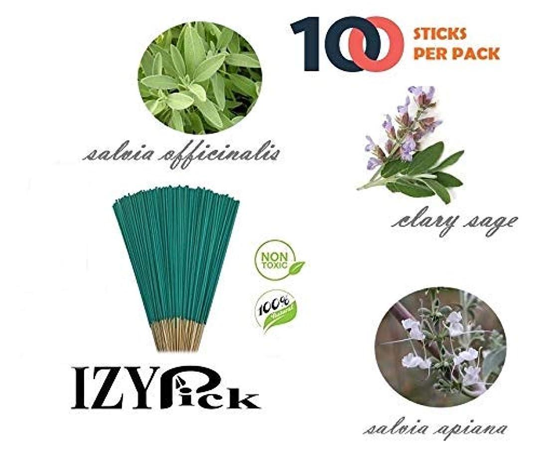 女王捧げる中国ExcIdea Sage Incense Handrolled Agarbatti Stick -100 Sticks