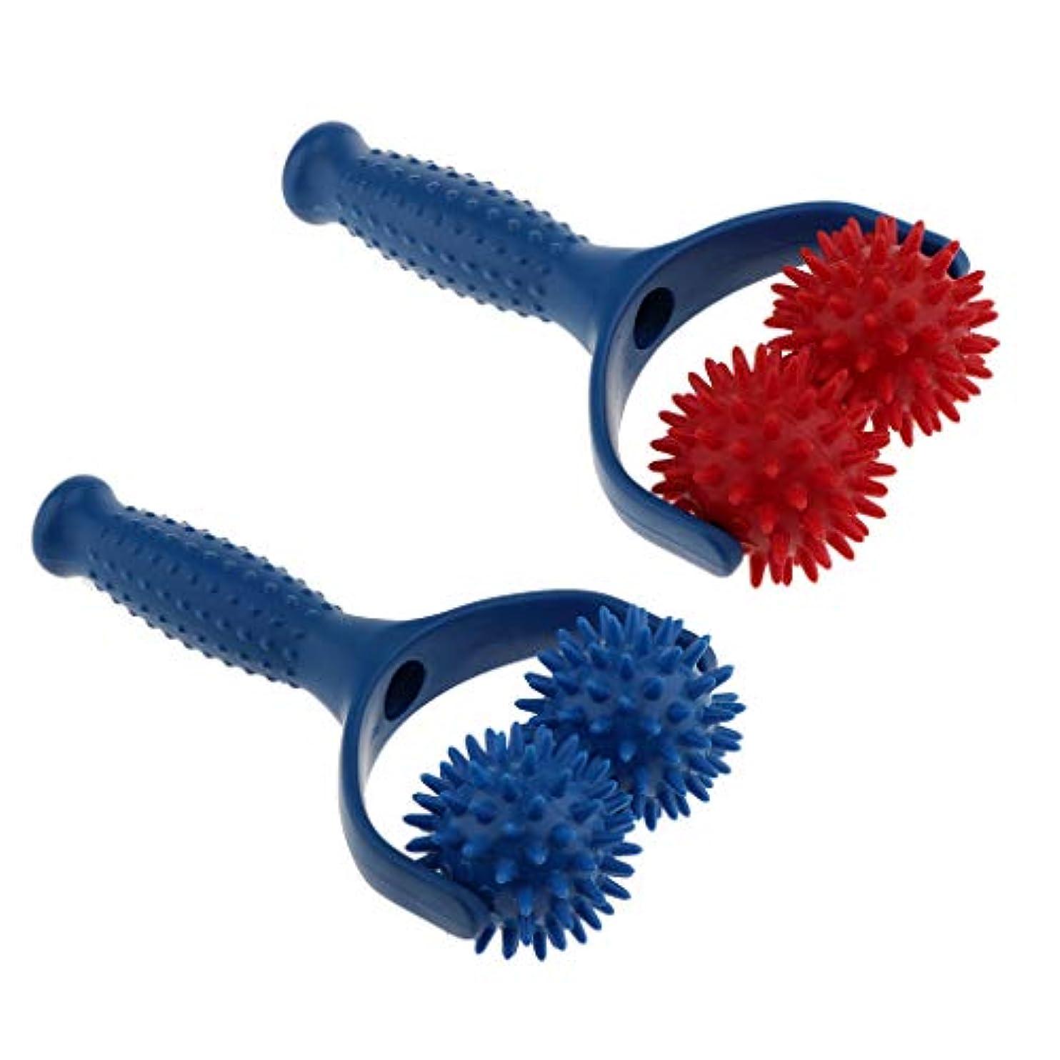 持つ見込み解明するマッサージボール ローラー ハンドヘルド 疲れ解消ボール 筋膜リリース 首/肩/背中 全身用 2個入