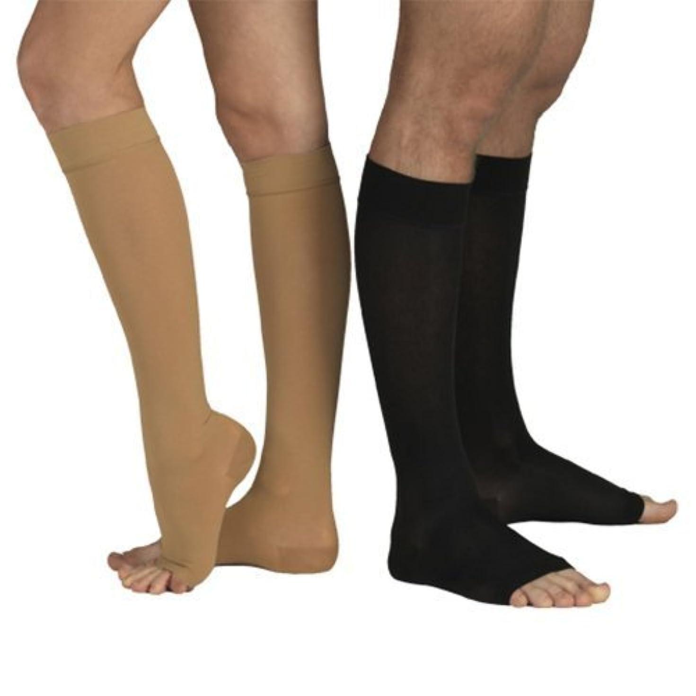 装備する地平線調整可能23-32 mmHg MEDICAL COMPRESSION SOCKS with Open Toe, FIRM Grade Class II, Knee High Support Stockings without Toecap...