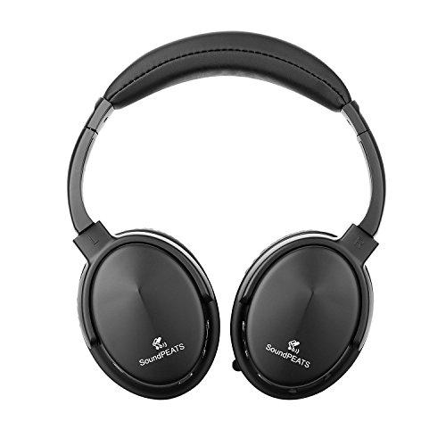 SoundPEATS(サウンドピーツ) bluetooth ヘッドホン高音質 有線可能 Built-in Mic スポーツ仕様 生活防水 A1 (ブラック)
