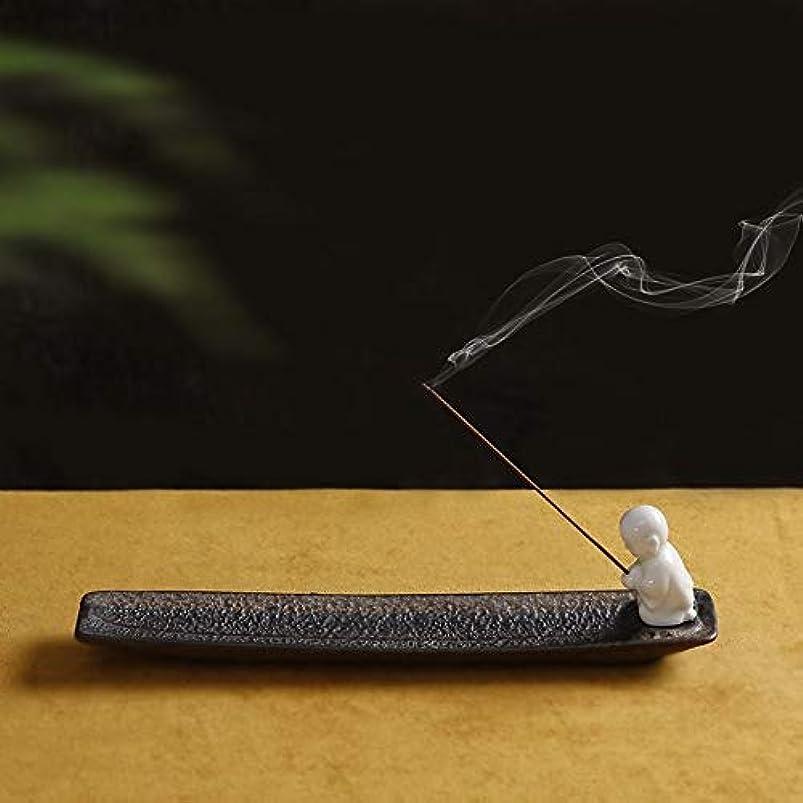 代数蓮細いPHILOGOD 陶器香炉 クリエイティブスタイリング香置物 仏壇用線香立て 香皿
