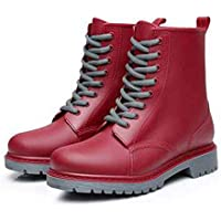 MEIGUIshop Rain Boots - Waterproof Martin Boots Casual Shoes Boots Rubber Boots