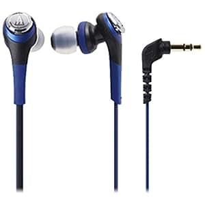 オーディオテクニカ SOLID BASS インナーイヤーヘッドホン ブルー ATH-CKS550 BL