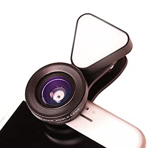 LIEQI JAPAN 広角レンズ iphone セルカレンズ スマホ 自撮り ライト LQ-035 (ブラック)