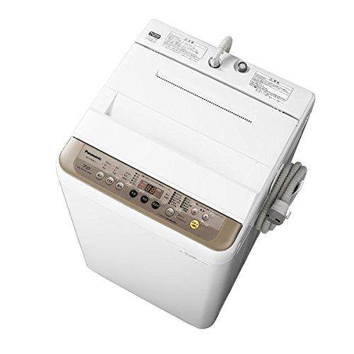 パナソニック 「つけおきコース」搭載全自動洗濯機【洗濯7kg】【バスポンプ内臓】 (ブラウン) (NAF70PB11T) ブラウン NA-F70PB11-T