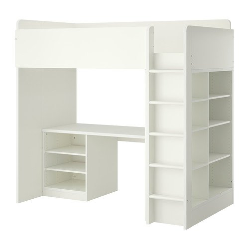 STUVA ロフトベッドフレーム デスク&収納付き(棚板×2/棚板×3)