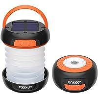 enkeeo LEDランタン 懐中電灯 ソーラー USB充電式 モバイルバッテリー 3明るさモード 高輝度 折り畳み式 軽量 コンパクト アウトドア キャンプ 防災グッズなどに SB-6071【メーカー保証】