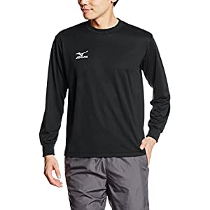 [ミズノ]トレーニングウェア 長袖Tシャツ ナビドライ ブラック×ホワイト 日本 L (日本サイズL相当)