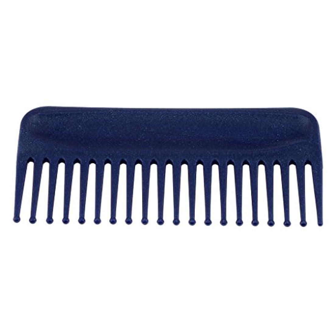 夏栄光の分離するヘアコーム サロン ヘアケア 脱毛ヘアコーム ヘアブラシ 耐熱性 帯電防止 頭皮 マッサージ 丸いヘッド 4色選べる - 青