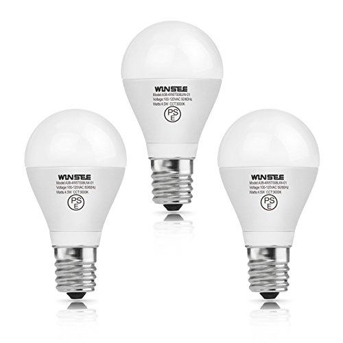 WINSEE LED電球 E17口金 40W形相当(4.5W) 3000K 電球色 広配光タイプ 省エネ90% LED 電球 e17 小形電球 3個入 PSE認証 3年保証