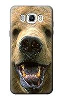 JP0840J76 グリズリーベアの顔 Grizzly Bear Face Samsung Galaxy J7 (2016) ケース