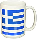 3dローズInspirationzStoreフラグ–Greece–ギリシャの国旗スカイブルーホワイトストライプwith Cross地中海ヨーロッパ世界国お土産–マグカップ 15-oz ホワイト mug_158320_2