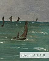 Boats at Berck-sur-Mer - 2020 Week to View Planner: FINE ART PLANNER - 2020 Planner Weekly and Monthly - Jan 1, 2020 to Dec 31 (Elitic Fine Art 2020 Planners)