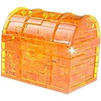教育玩具 – coerni 3dパズルクリスタル動物 – Build It and Play with It ( Treasure Chest – オレンジ)