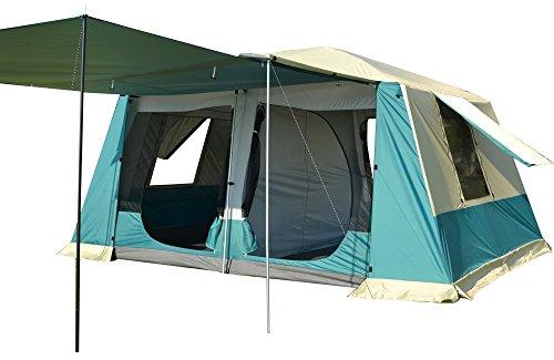 ツールームテント ベージュ 全2色 300cmx400cmx215cm 2ルーム UV50+ 防虫 通気性 耐水圧3000mm 収納袋付き グランドシート付き [5-6人用] [8-12人用] [並行輸入品]