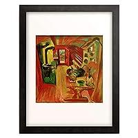 エルンスト・ルートヴィヒ・キルヒナー Ernst Ludwig Kirchner 「Alp Kitchen」 額装アート作品