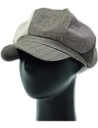[PLIC N PLOC]EMN04. 3パターンのミックスレトロメンズレディース ベレー帽 鳥打ち帽 ハンチングフラットキャップ