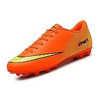 [パルクール] 男の子サッカークリート芝サッカーファッションサッカーシューズハードコートアウトドアシューズ 25cm orange