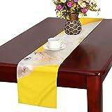 GGSXD テーブルランナー すばやい スフィンクス猫 クロス 食卓カバー 麻綿製 欧米 おしゃれ 16 Inch X 72 Inch (40cm X 182cm) キッチン ダイニング ホーム デコレーション モダン リビング 洗える
