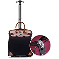 "TONGSH Unidirectional Rolling 16"" Laptop & Tablet Wheeled Business Carry-On Tote Suitcase Roller Boarding Under Seat Case (Color : E, Size : 20in)"