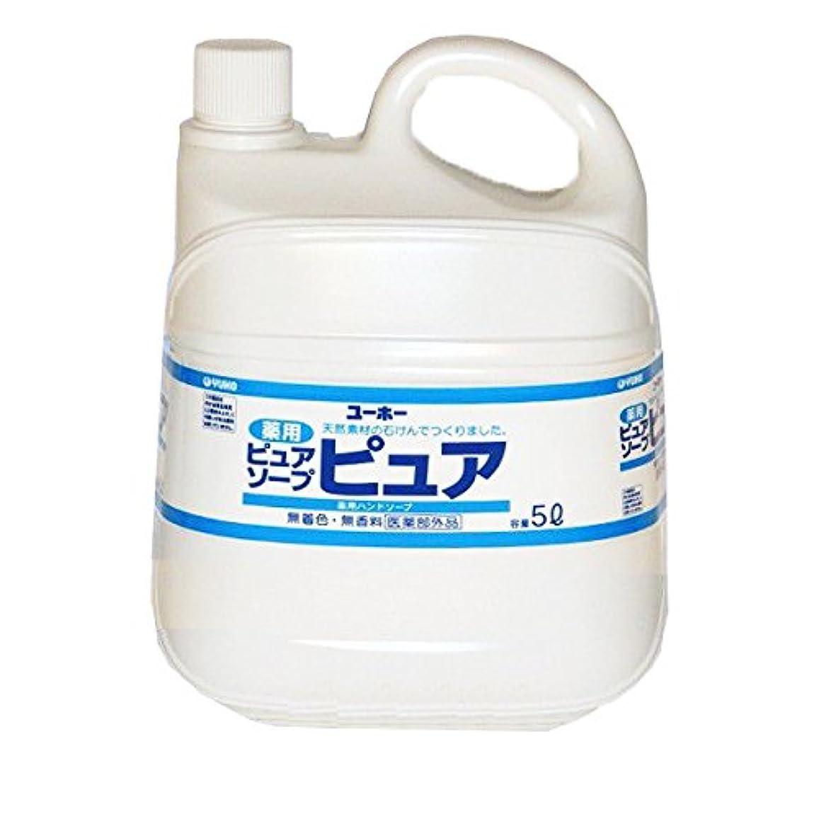 ジュース引き潮空のユーホー薬用ピュアソープピュア 5L /0-6147-02