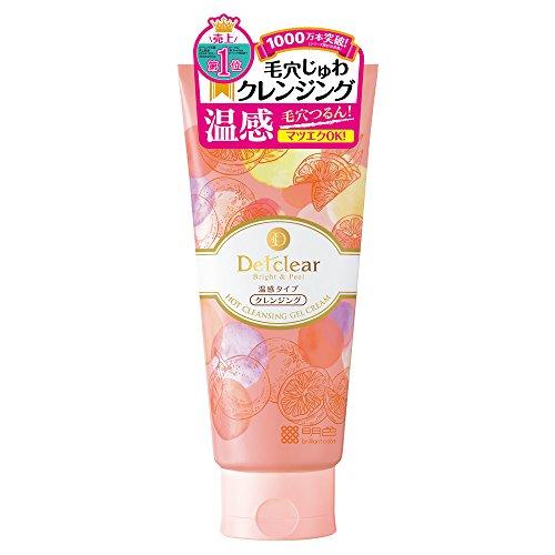 DETクリア ブライト&ピール ホットクレンジング ジェルクリーム 200g (日本製) ベルガモットオレンジの香り