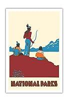 国立公園 - ネイティブアメリカン - ビンテージな世界旅行のポスター によって作成された ドロシー・ワー c.1935 - アートポスター - 76cm x 112cm