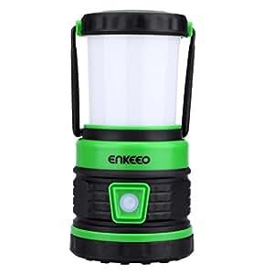 enkeeo LEDランタン 300ルーメン 非常灯搭載 防滴仕様 USB給電 スマホなど緊急充電可能 キャンプ 夜釣りや防災などに XG-6028B【メーカー保証】