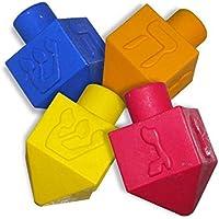 jewishinnovations.。com 4 Countクレヨンプレミアムクラスパック – カラーリングのためのギフト、大人と子供 – Chanukah Dreidel ShapedクレヨンBulk – アートSupplies for Toddlers &就学 – アソートカラー Pack of 25 マルチカラー 6895628865452