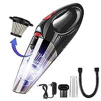 HUNLEEハンドヘルド掃除機コードレス、5KPA強力な吸引ハンド掃除機、充電式ハンド掃除機、2.5hクイックチャージ、軽量手持ち掃除機、家庭用および車内清掃