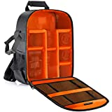 Neewer Flexible Partition Camera Padded Backpack Bag Shockproof Insert Protection for SLR DSLR Mirrorless Cameras and Lenses, Flash Light, Radio Triggers,and Other Accessories (Orange Interior)