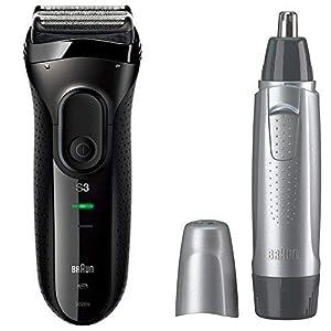 【セット買い】ブラウン シリーズ3 メンズ電気シェーバー 3020s-B + 鼻毛カッター EN10