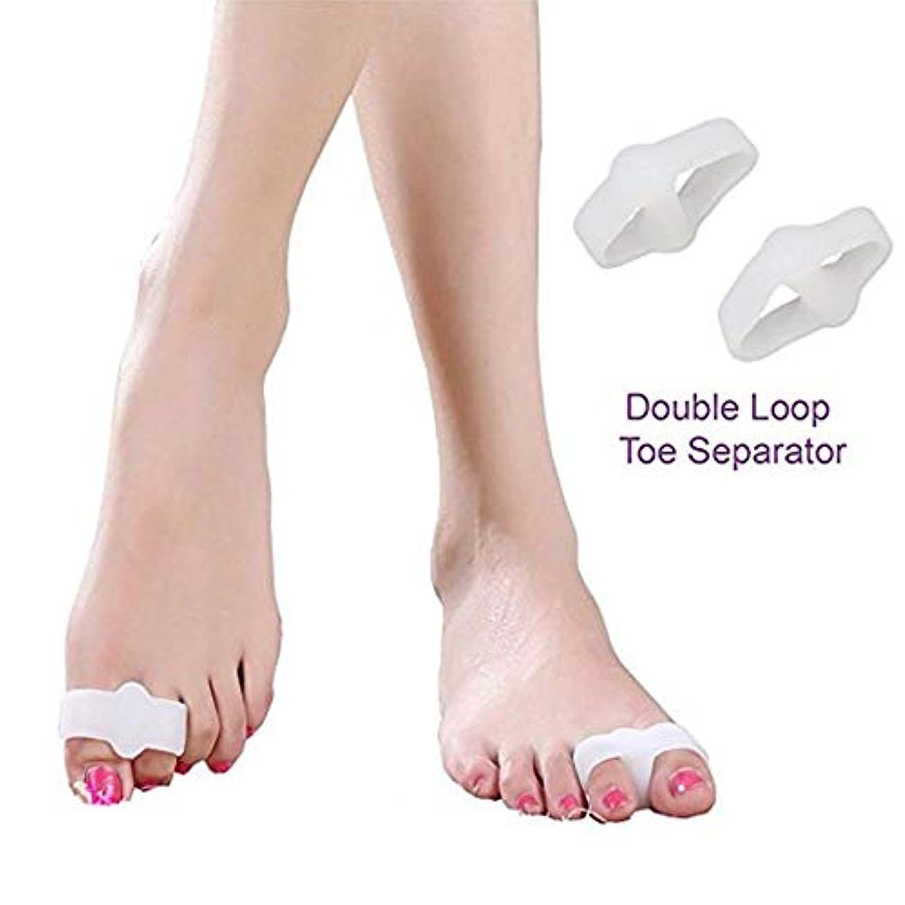 協定光沢のある原理外反母趾サポーター 親指矯正グッズ 厚型ジェルパッド 足指を広げる 痛み改善 快適歩行 靴下履ける 高品質シリコン制 伸縮性 通気性 男女兼用 [5組] おしゃれ 人気