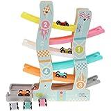 Sharplace 車玩具 トラックおもちゃ 6層 くるくるスロープ レースカー 子供 遊びおもちゃ 贈り物