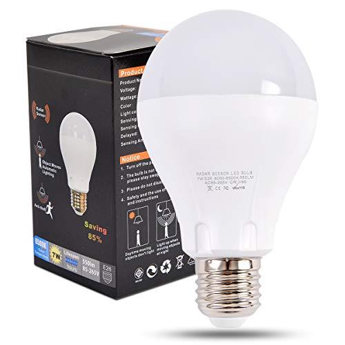 LED電球 LEDレーダーセンサーライト 人感LED電球 消...