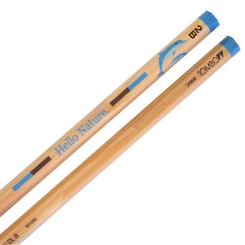 トンボ鉛筆 鉛筆 ハローネイチャー かきかた 2B KB-KHNDL2B ドルフィン 1ダース