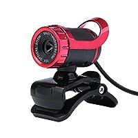 USB HD Webカメラ、lavyingyカメラ内蔵マイククリップ式360度付きコンピューターPCノートパソコン
