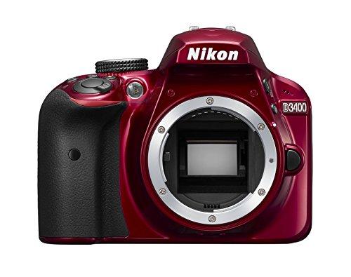 Nikon デジタル一眼レフカメラ D3400 ボディ レッド D3400RD クリーニング クロス付き