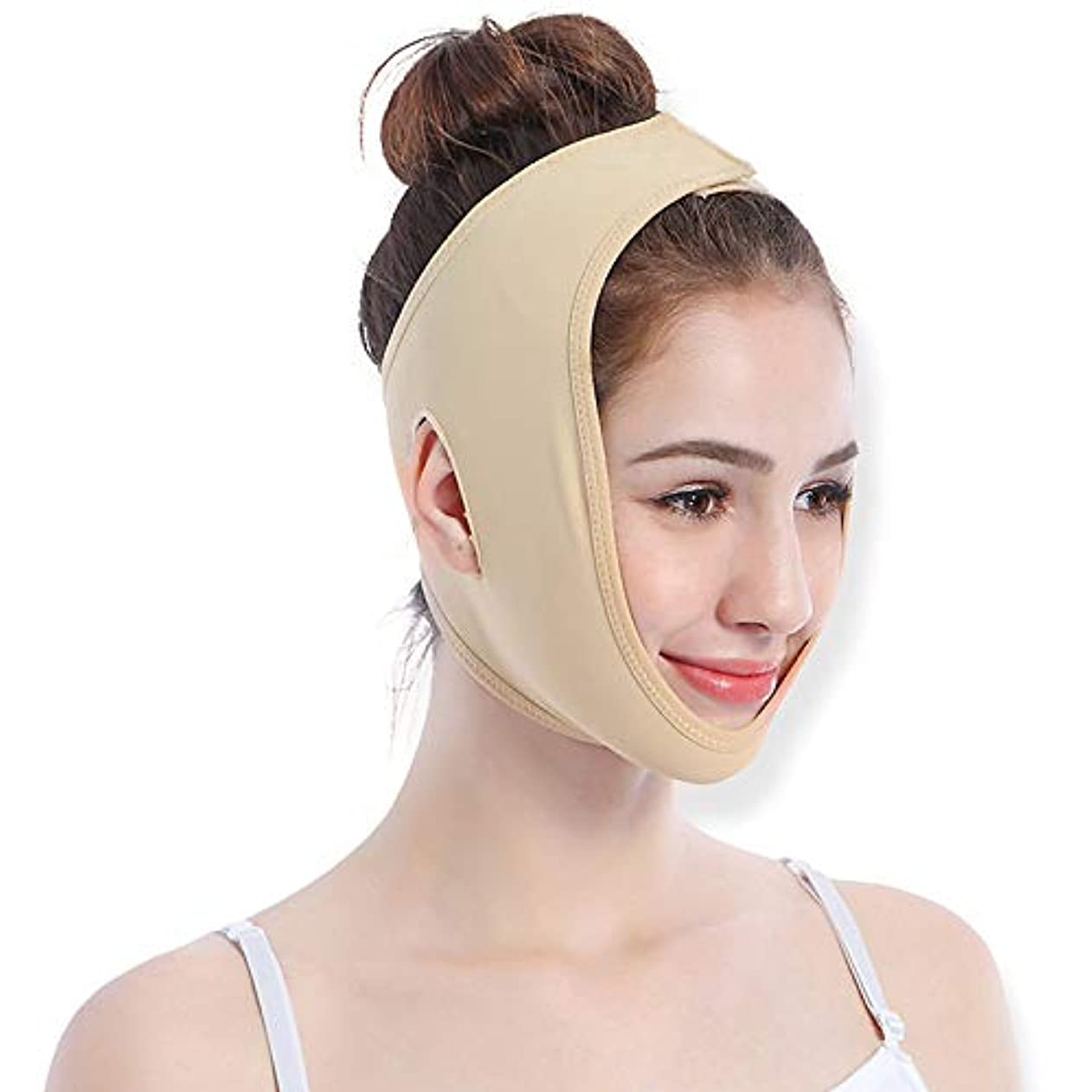 アンタゴニストクラックポット忌まわしい顔の重量損失通気性顔マスク睡眠 V 顔マスク顔リフティング包帯リフティング引き締めフェイスリフティングユニセックス,S