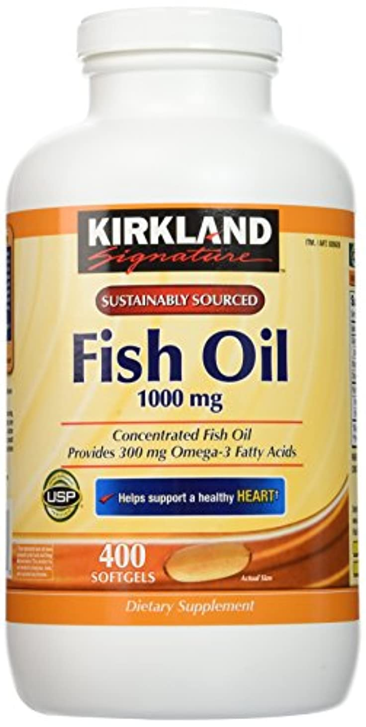 対称特別に苦いKirkland Signature Natural Fish Oil Concentrate with Omega-3 Fatty Acids - 400 Softgels by Kirkland Signature