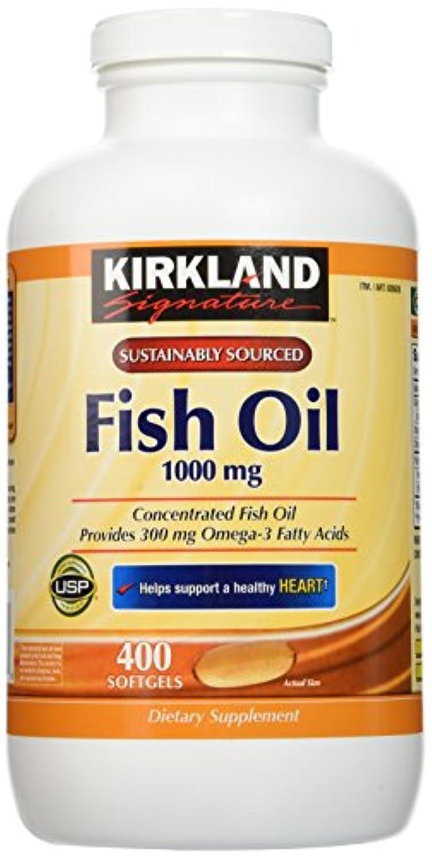 クリケットレーダーキャップKirkland Signature Natural Fish Oil Concentrate with Omega-3 Fatty Acids - 400 Softgels by Kirkland Signature