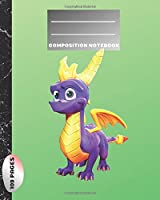Composition Notebook: Blank Paper Notebook Journal,Workbook for Kids, Spyro The Dragon,Teens, Students for Back to School and Home College Writing,Unique Notebook (109 Pages,Blank Paper,8 x 10) (School Notebook)