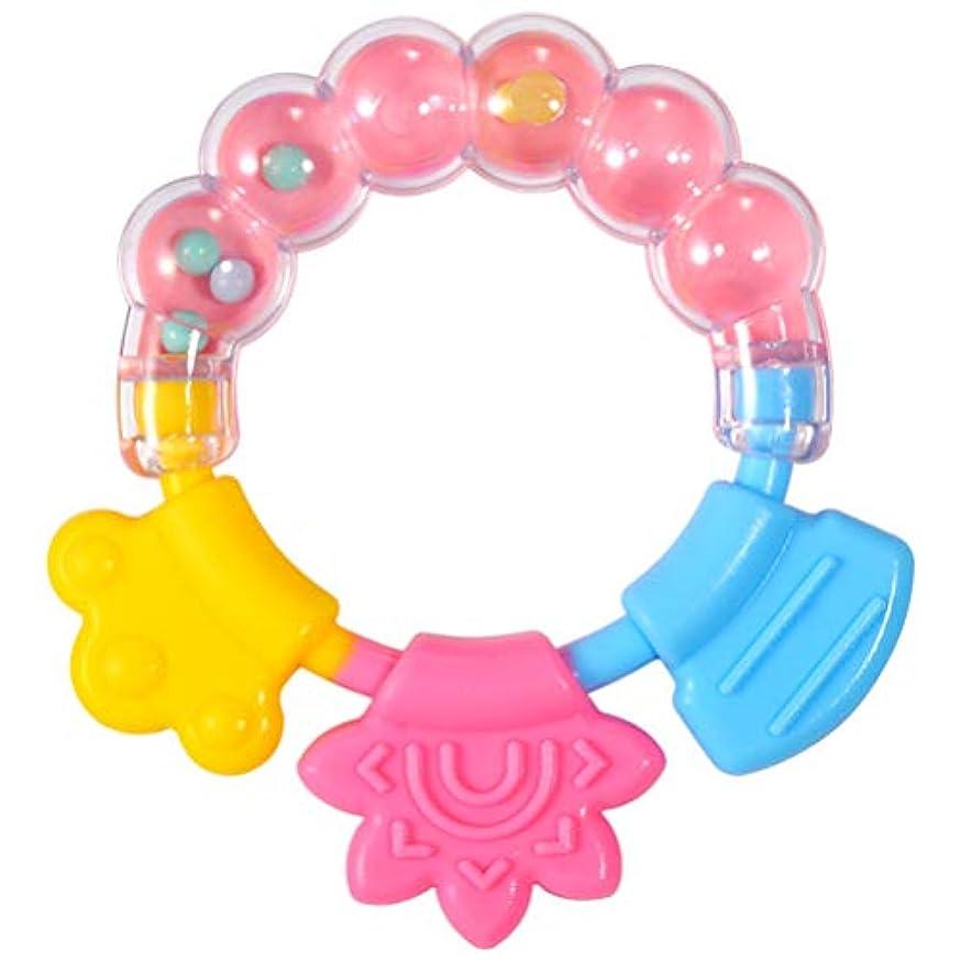 ソート補助サロンTOYANDONA 3ピースシリコーン赤ちゃんおしゃぶりおもちゃ発達おもちゃでガラガラビーズ幼児ガラガラと歯が生えるおもちゃ