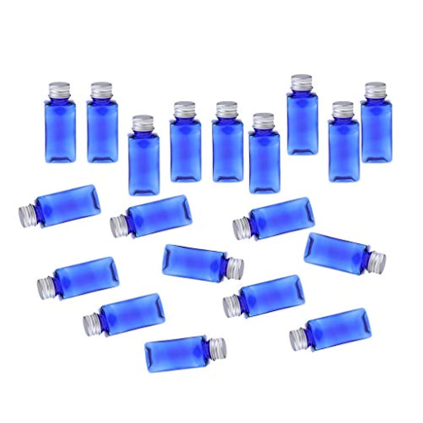 歩行者ステッチのどB Baosity 約20本 メイクアップボトル 30ミリリットル コスメ 詰替え容器 8色選べ - ブルーシルバー