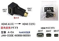 【COMON(カモン)製】HDMI直角変換アダプタ(Aタイプ:メス→Cタイプ:オス)(DA-A-CA)